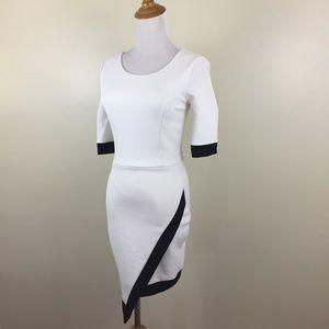 FASHION NOVA Textured High Low Bodycon Dress
